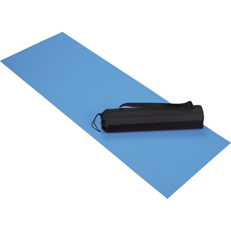 Blauwe yoga sportmat 60 x 170 cm