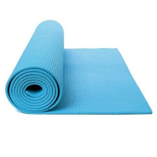 Lichtblauwe yogamat sportmat 180 x 60 cm