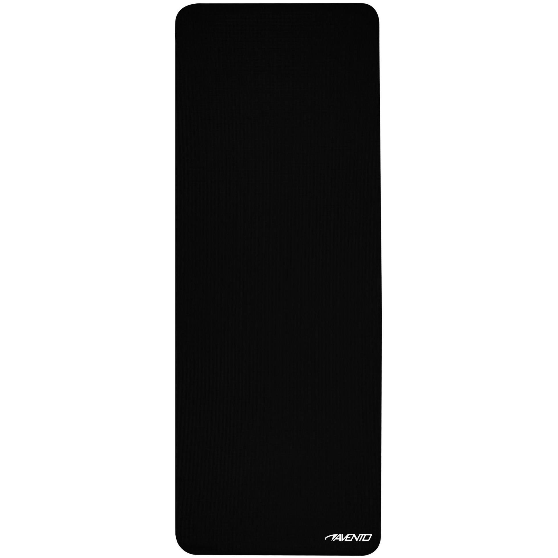 Lichtgewicht yogamat zwart 173 x 61 cm