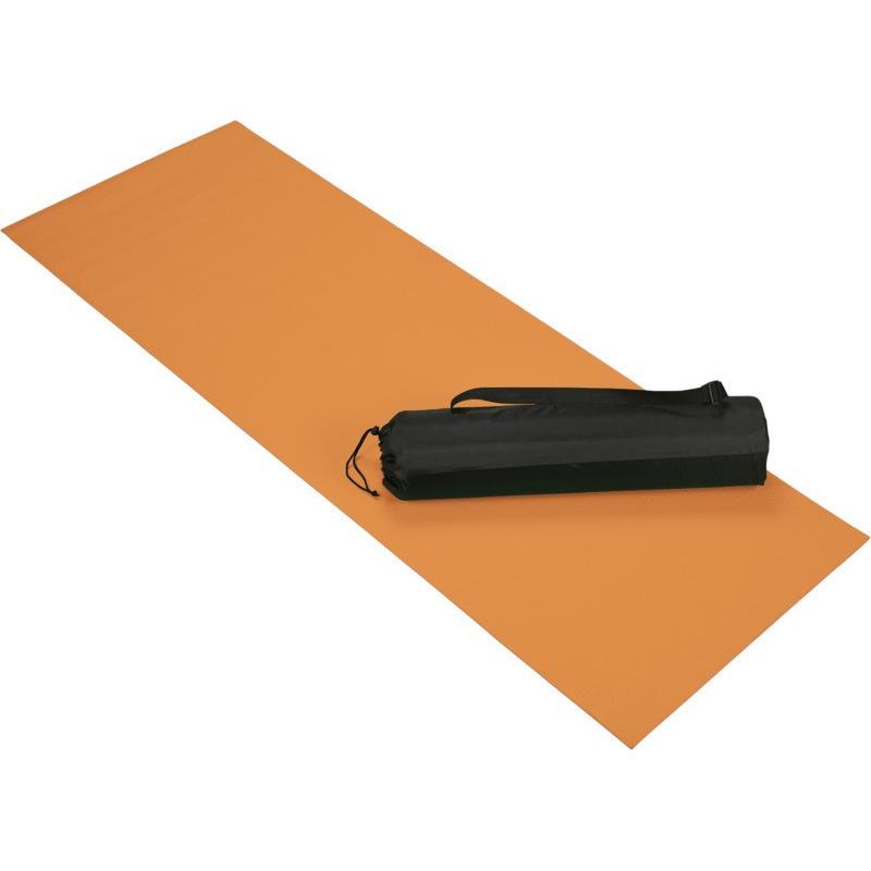Oranje yoga sportmat 60 x 170 cm
