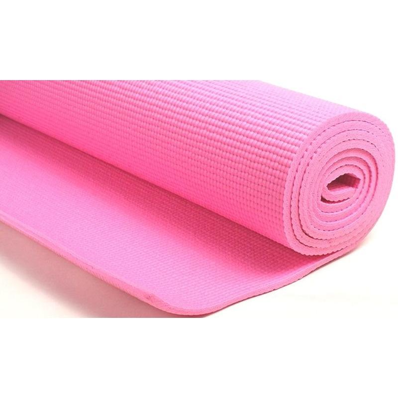 Roze yogamat sportmat 180 x 60 cm
