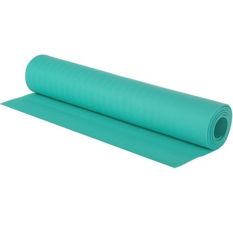 Turquoise blauwe yogamat sportmat 180 x 60 cm