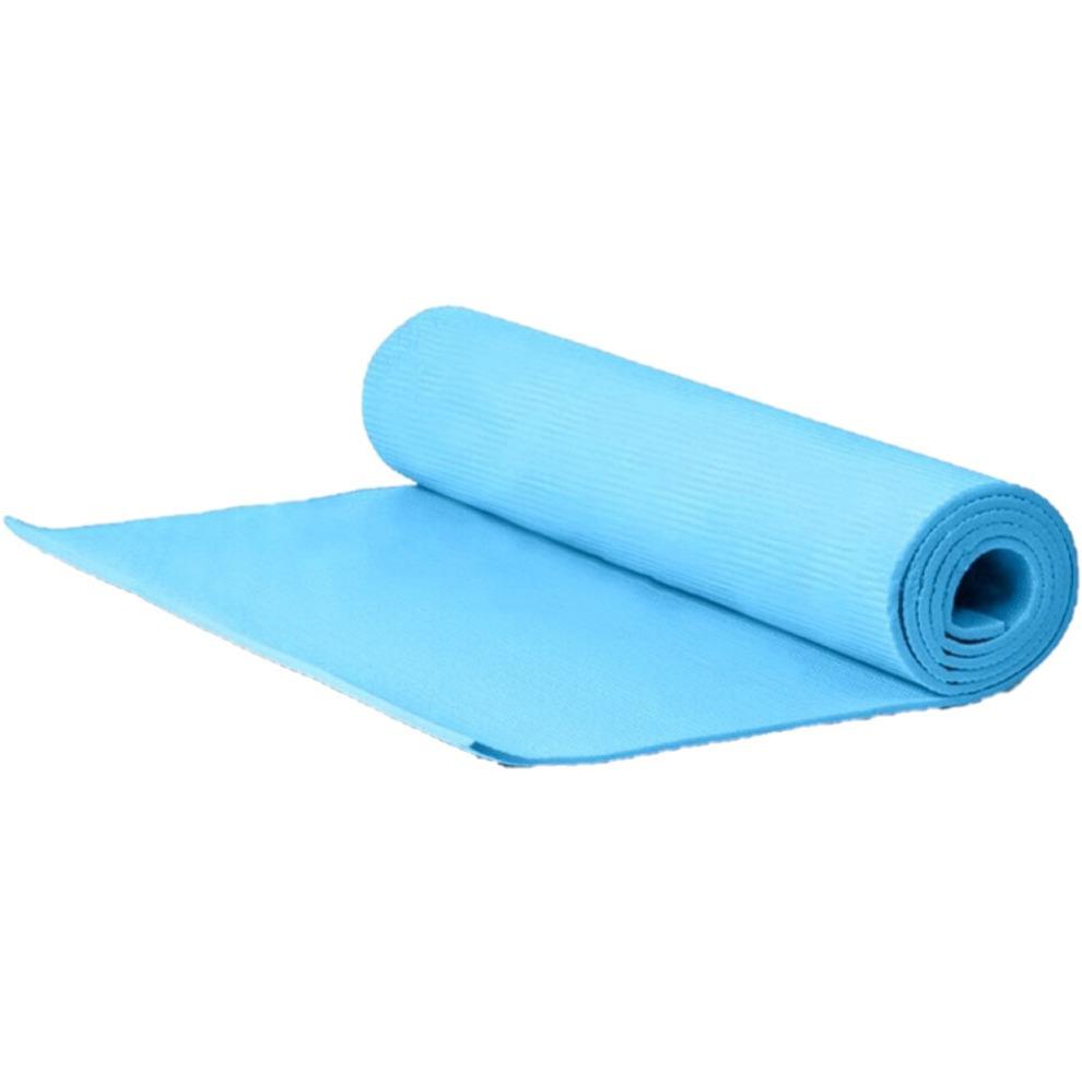 Yogamat sportmat blauw 173 x 60 x 0 6 cm