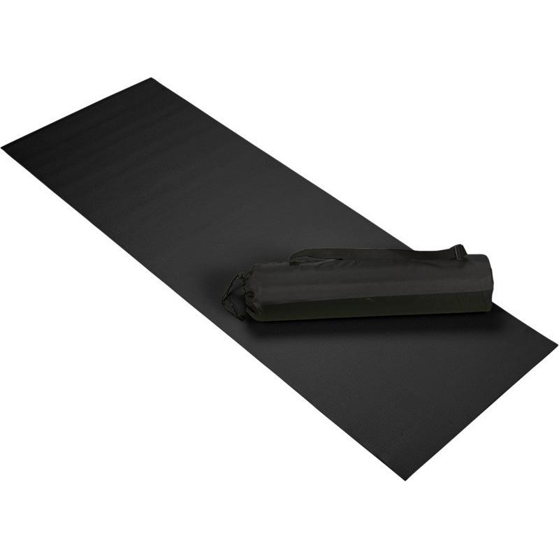 Zwarte yoga/sportmat 60 x 170 cm